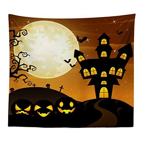 Claus Tapestry - Dreamyth Christmas Xams/Halloween Pumpkin Tapestry Throw Wall Hanging Santa Claus Snow Man Blanket Home Decor (Halloween Pumpkin G 120cm x 150cm)