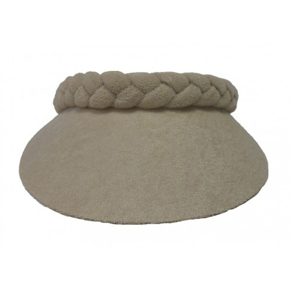 Cushees Braided Terry Cloth Visor [230] (Beige)