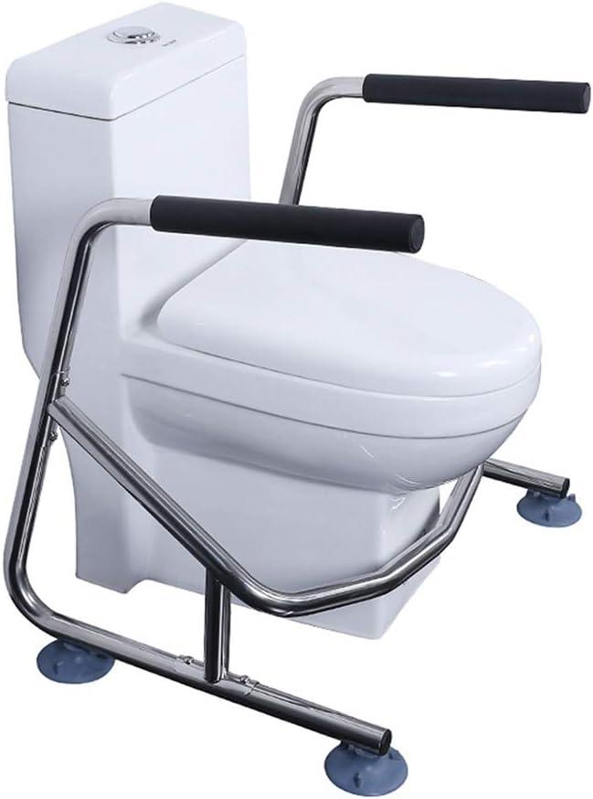 トイレ用手すり バスルームトイレの手すりトイレレールトイレの安全レールトイレ用の安全フレームステンレス鋼高齢者のためのバスルームの安全障害者障害者 トイレ用手すり (Color : Silver, Size : 69*56*68.5cm)