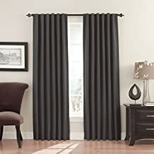 "Eclipse Fresno Blackout Window Curtain Panel, 108"", Charcoal"