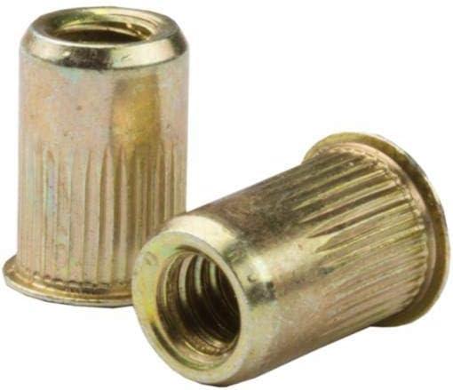 Steel LG FLNG HD RND Body Splined .165-.260 GR 25 PK 1//4-20 CAL2-2520-260 Zinc YLW RIVETNUT