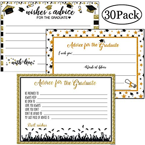 Review Of Graduation Party Advice Cards 30 Sheets of 3 Different Styles Well Wishes Cards for Gradua...