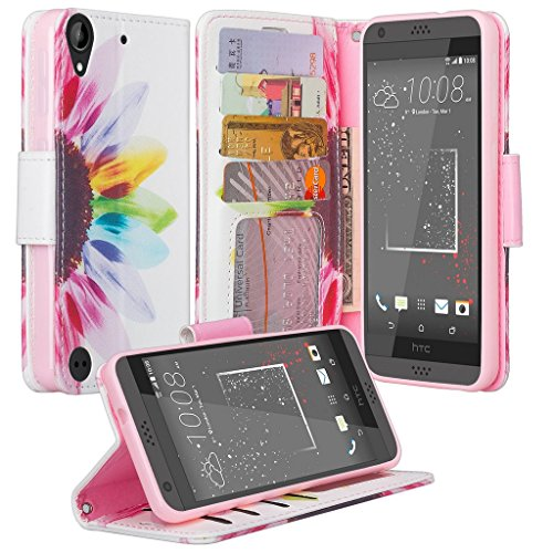 HTC Desire 530 Case, HTC Desire 555 Case, HTC Desire 550 Case, Luxury PU Leather Wallet Flip Protective Case Cover with Card Slots and Stand for HTC Desire 530/Desire 555/Desire - Wallet Desire Phone Htc