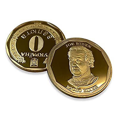 Aizics Mint Ukraine Funny Joe Biden Novelty Coin | 30mm x 2mm | Democrat Presidential Candidate 2020 | Trump Coin Collection | Hryvnia Ykpaiha: Sports & Outdoors