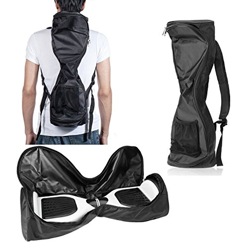 Waterproof Hover Board Bag, Electric Smart Scooter Carrying Backpack with A Mesh Pocketand Adjustable Shoulder Straps, Black