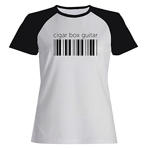 Idakoos Cigar Box Guitar barcode - Strumenti - Maglietta Raglan Donna