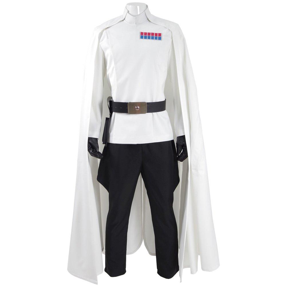 Fancycosplay Mens Battle Uniform White Cloak Full Set Cosplay Costume (Man-L)