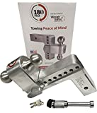 180 Hitch (TB8-2.5) for 2.5'' Reciever w/ Hitch Pin Lock - Bundle - by Weigh Safe