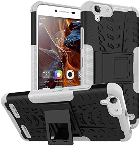 pinlu® Funda para Lenovo K5 / K5 Plus (5 Pulgada) Smartphone Doble Capa Híbrida Armadura Silicona TPU + PC Armor Heavy Duty Case Duradero Protección Neumáticos Patrón Blanco: Amazon.es: Electrónica