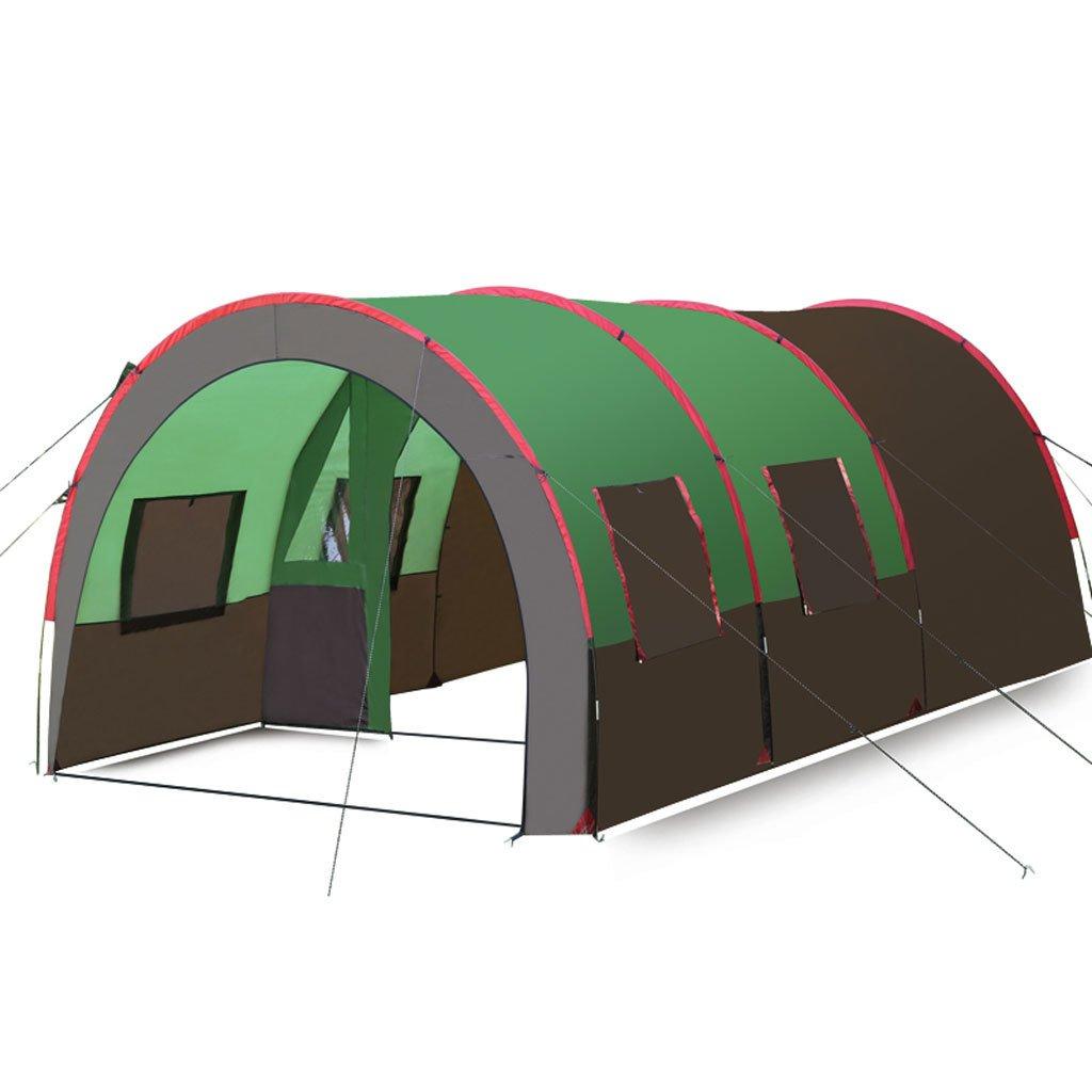 Große Tunnelzelt Outdoor-Camping-Multiplayer 8-10 Personen Zelt regen ein Zimmer und zwei Wohnzimmer