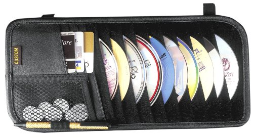 Case Logic Car - Custom Accessories 31501 10-Pocket CD Visor Organizer