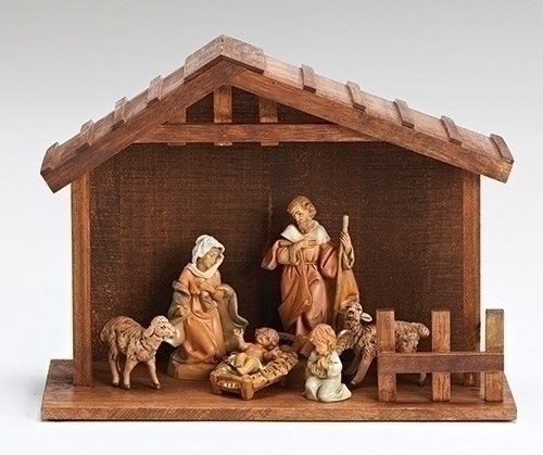 Roman Fontanini 7 Piece Italian My First Nativity Creche ...