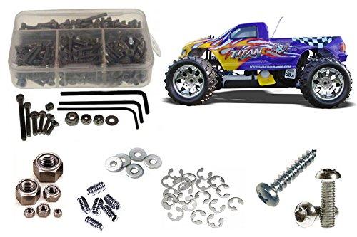 RC Screwz Stainless Steel Screw Kit for Smartech Titan 1/5 #smt001 ()