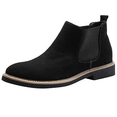 Amazon.com  kaifongfu Non-Slip Short Boot for Men Low-Heeled Tooling ... c68321c0c