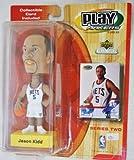 New Jersey Nets star #5 Jason Kidd official NBA Upper Deck Playmakers Bobble card set Bobblehead