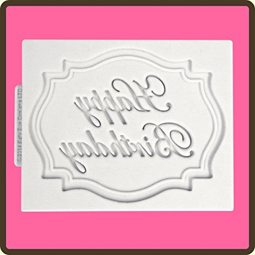 Happy Birthday Plaque (Mini Plaque - Happy Birthday Mold for Cake Decorating, Cupcakes, Sugarcraft and Candies)