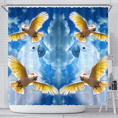 Paws With Attitude Salmon Crested Cockatoo Print Shower -