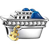 SOUFEEL Bon Voyage Cruise Ship Charm Crystal 925 Sterling Silver Fors European Charms Bracelets