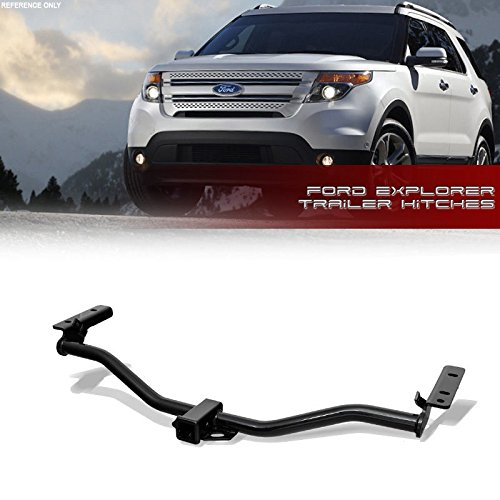 VXMOTOR for (11-17 Ford Explorer Base XLT Limited Sport Platinum) - Class 3 III - Trailer Towing Hitch Mount Receiver Rear Bumper Utility Tow KIT 2