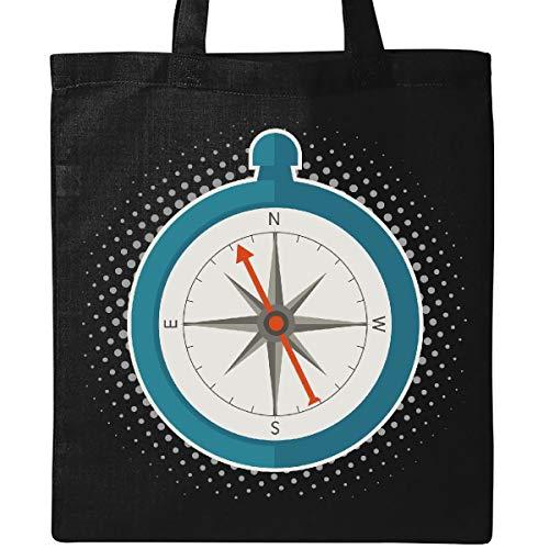 Inktastic - Camping Hiking Trekking Adventure Compass Tote Bag Black 33acd