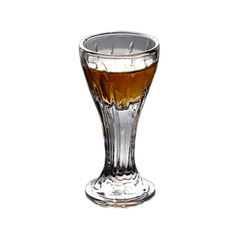 6 Pieces Creative Mini Goblet Spirits White Wine Glass European-style Thick-bottom Cup #11