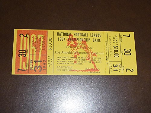 (VINTAGE LOS ANGELES RAMS 1967 NFL FOOTBALL CHAMPIONSHIP FULL TICKET PROOF)