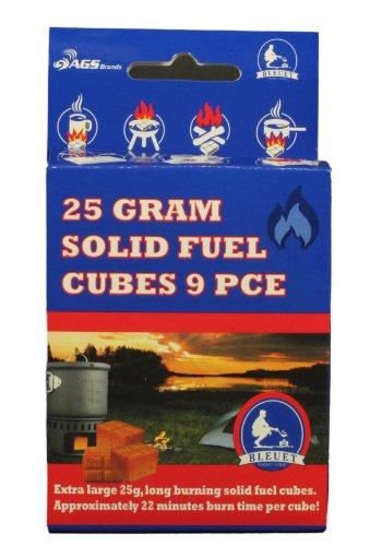 Bleuet Brand Solid Fuel Cubes, 25gm