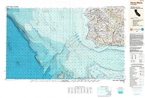 Santa Maria CA topo map, 1:250000 scale, 1 X 2 Degree, Historical, 1989, updated 1991, 24.2 x 35.6 IN - - Hills Puente California
