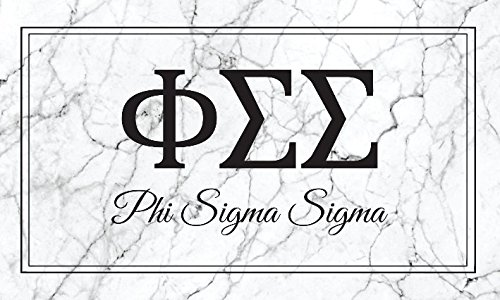 Phi Sigma Sigma Marble Box Letter Sorority Flag Banner 3 x 5 Phi Sig (Iii Gear Box)