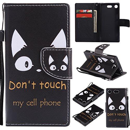 Lomogo Coque Sony Xperia XZ1 Compact, Housse en Cuir Portefeuille avec Porte Carte Fermeture par Rabat Aimant Anti Choc Etui de Protection pour Sony Xperia XZ1 Compact - LOKTU21110#3 #8