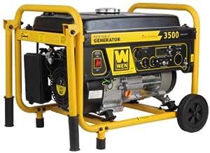 WEN 56352, 3000 Running Watts/3500 Starting Watts, Gas Powered Portable Generator