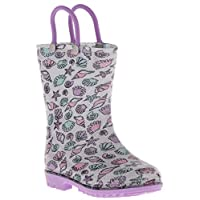 Capelli New York Toddler Girls Pretty Fox Rain Boots with 3D Applique and Allover Glitter