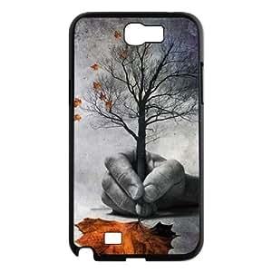DIY Samsung Galaxy Note 2 N7100 Case, Zyoux Custom High Qualtiy Samsung Galaxy Note 2 N7100 Shell Case - Tree leaf