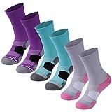 Women Quarter Socks Facool Women Reinforced Hand Linked Seamless Toe for Sports Hiking Walking Running 6 Pairs