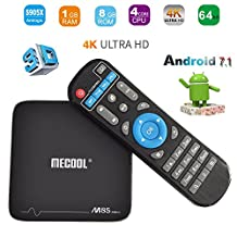 MaQue Android TV Box M8S PRO+ Android 7.1 Quad-core Smart TV BOX 1G Ram 8G Flash Fully Loaded Internet Media Streamers H.265 4K Player