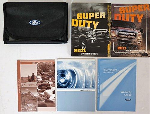 2011 Ford Super Duty Owner's Manual Original F250 F350 F450 F550 Pickup Truck