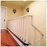 Anti-Fall Net,Indoor Railings Balcony Stair Safety Protection for Kids Anti-cat Isolation Goal Net Backstop Net Sports Ball Fence Net Garden Plant Decoration Cargo Cord Net Trailer Luggage Netting