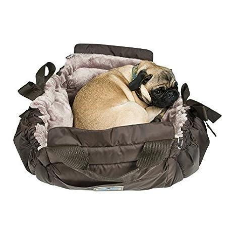 Napi Ghundoo rectangular marrón Funda y cama para perros de peluche taupe (XS de 65