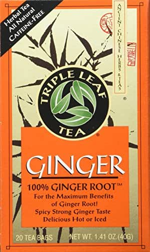 Triple Leaf Ginger Tea Bags - 20 ct
