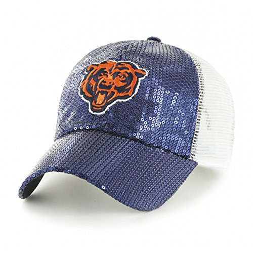 Nfl Gear Women - OTS NFL Chicago Bears Women's Brilliance Challenger Clean Up Adjustable Hat, Women's, Navy