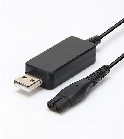 Cargador USB de 4.3V para Philips Norelco One Blade Charger QP2520/30, QP2520/90, QP2520/70, Reemplazo para QP2520 Philips Oneblade Razor Shaver Charger, Reemplazo del cable de alimentación A00390