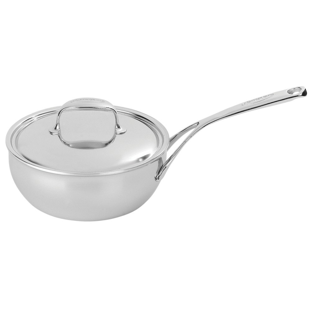 Demeyere Atlantis 2.1 Quart Conic Sauteuse Pan with Stainless Steel Lid