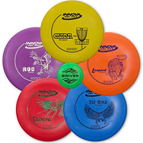 driven-disc-golf-5-disc-starter-set-perfect-for-beginners-includes-a-free-bonus-mini-disc-and-a-100-