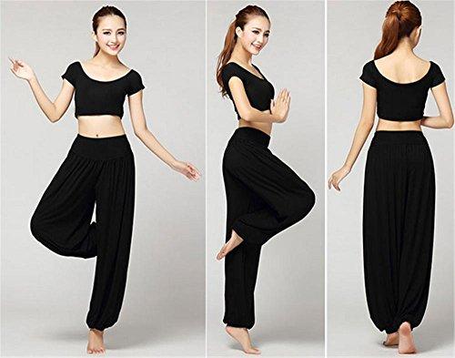d'entraînement pour Vêtements femme de black yoga costume de danse 4dv6qwZ