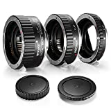 Neewer 3-piece(12-20-36mm) Macro Automatic Extension Tube Set DG for Canon EOS 1D 1Ds 5D Mark 2 3 II III 6D 7D 10D 20D 20Da 30D 40D 50D 60D 60Da 70D 100D 300D 350D 400D 450D 500D 550D 600D 650D 700D 1000D 1100D 1200D Rebel SL1 XT XTi XS XSi T1i T2i T3 T3i T4i T5 T5i Kiss F N X X2 X3 X4 X5 X6i X7i X50 X70 Digital SLR Camera