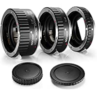 Neewer Metal 13-21-31mm AF Auto Focus Macro Extension Tube Set for Canon DSLR Cameras Such as 7D Mark II,5D Mark II III,IV,1300D,1200D,1100D,750D,700D,650D,600D,550D,500D,100D,80D,70D,60D