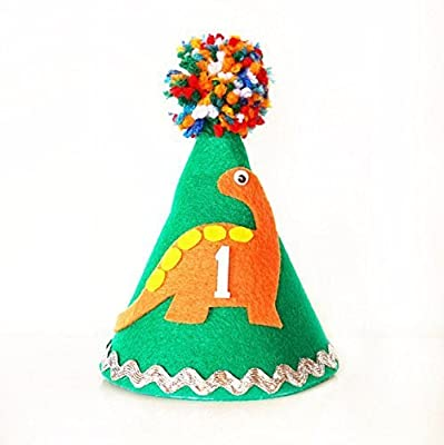 Dinosaur Hat - Dinosaur Birthday - Birthday Hat - First Birthday - Dinosaur Birthday Decoration - Boy