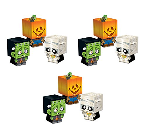 Beistle S01198AZ3, 9 Piece Goody Ghoulies Favor Boxes, 5'' x 3.25''