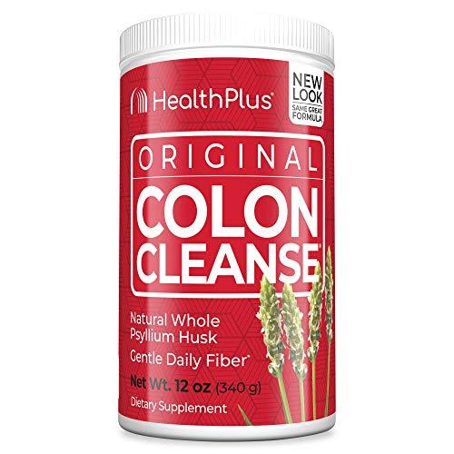 Health Plus Colon Cleanse – Natural Daily Fiber – Gluten Free, Detox, Heart Healthy (12 Ounces, 48 Servings)