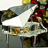 Crystal Glass Piano Model Paperweight Medium-Sized